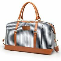 Overnight Bag for Women Canvas Weekend Travel Bag Ladies Duffle Tote Bags PU