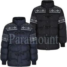 Polyester Funnel Neck Quilted Coats & Jackets for Men