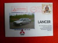 1985 MITSUBISHI  CAR MAKER OF YR RED FRANKING COVER LANCER