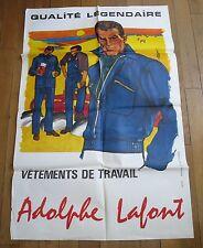 ADOLPHE LAFONT LYON vetements de travail grande affiche illustrée