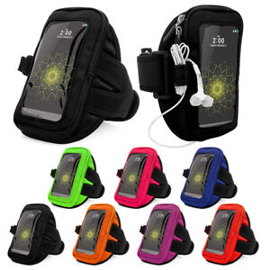 For Samsung Galaxy Note 20 / A51 / S20 / A01 Nylon Workout Sport Armband Case