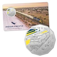 2020 Indian Pacific 50c Fifty Cent Coloured Coin Royal Australian Mint RAM