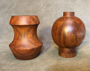 Rare Salt & Pepper Shakers Teak Danish Modern MCM Jens Quistgaard Era