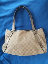 Authentic vintage Gucci Brown GG logo Large Handbag Sukey tote hobo shopper used