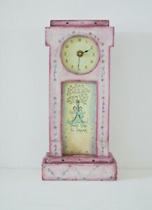 Girls Pink Clock Wooden Freestanding or Hanging Clock TAKE TIME TO DREAM