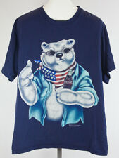 Vintage 1996 Coca-Cola Bear Flag T-shirt Size XL Coke Soda Distressed