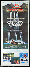 CASTAWAY COWBOY James Garner Disney VINTAGE Original Daybill Movie Poster