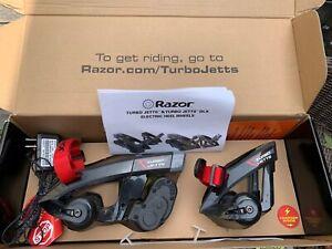 Razor Turbo Jet Jetts With Charger Electric Skates  Heel Heelies Wheels