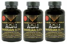 3 Absonutrix Acai Burn with Garcinia Cambogia green tea weightloss fat burner