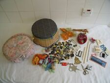 JOB LOT VINTAGE COLLECTABLES - 2 X SEWING BASKETS AND CONTENTS