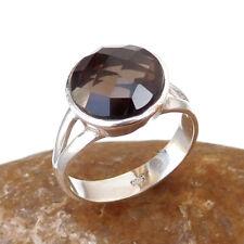 SMOKY QUARTZ Sterling Silver Ring, Wholesale Sterling Silver Ring Siz 6.5-EB1167