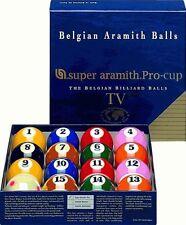 New Belgian SUPER ARAMITH PRO-CUP TV Pool Balls Set - BRAND NEW - Billiard SATS