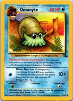 1999 Basic Pokemon Omanyte #138 Fossil Set Common Water 52/62 40 HP Single Card