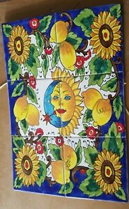 Sunflower Hand Painted Tunisian Ceramic Tile Mural-Disrupted shipping