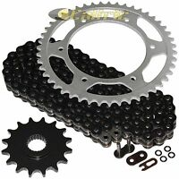 Black O-Ring Drive Chain & Sprocket Kit for Husqvarna 650Tr Strada Terra 13 14
