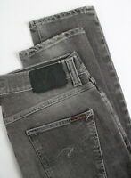 NUDIE LEAN DEAN STR Men's W29/L32 Slim Tapered Leg Grey Faded Jeans 4748_mm