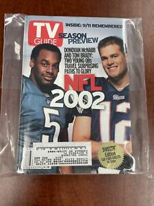 2002 TV Guide NFL Preview - Tom Brady & McNabb - 9/11 One Year Later