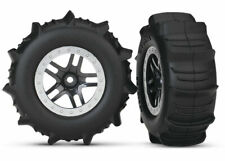 Traxxas Part 5891 Tires & wheels assembled glued Paddle Slash New in Package