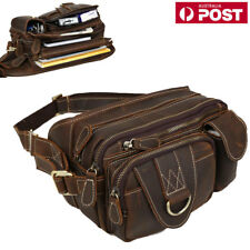 Vintage Leather Men's Fanny Waist Bag Belt Bum Pocket Phone Pouch Sport Travel