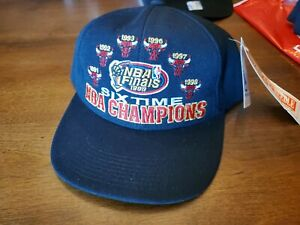 NEW NBA Chicago Bulls NBA Finals Six Time Champion Hat 1998 Genuine Authentic