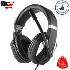 US Stereo 3.5mm Gaming Headset Bass Surround Wired Headphone for PS4 Xbox One PC