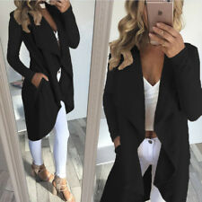 Fashion Women Ladies Long Waterfall Coat Jacket Cardigan Overcoat Outwear Jumper