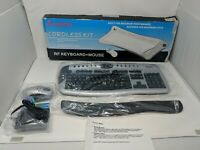 Amptron Professional Wireless Keyboard & Mouse AKM-C0350 AGM-9300 VTG 90s NEW