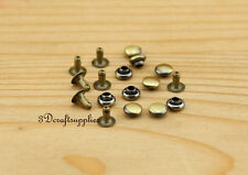 rivets leather rivet bag clothing shoes studs flat 50 sets 4 mm anti brass H3