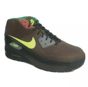 Nike Air Max 90 Sneakers Boots Brown Leather Mens Size 11.5 Shoes (316339-271)