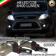 KIT FULL LED FORD KUGA I LAMPADE H8 FENDINEBBIA CANBUS 6400 LUMEN 6000K