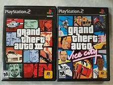 Grand Theft Auto: Vice City and Iii 3 (Sony PlayStation 2, 2002) Ps2 Tested