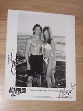 Playmate Brittany York/Alison Armitage/Michael Worth Signed Acapulco Heat Photo