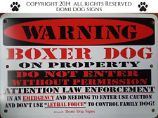 """Metal Warning Boxer Dog Sign For FENCE ,Beware Of Dog 8""""x12"""""""