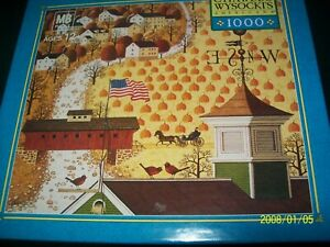 """Colorful Charles Wysocki 1000 pc. puzzle-""""APPLE SEED WOODS"""""""