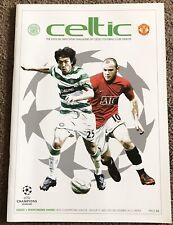 Celtic v Man Utd CL Maychday Programme 2009