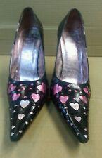 Vintage Playboy Court Shoes Heels UK 6 Metal Bunnys & Hearts