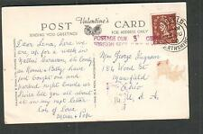 1960 UK A Wee Scotch post card Dunkeld to Mansfield Ohio/postage due Tax