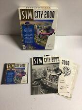 Sim City 2000 Ultimate City Simulator Series PC 1994 Game DOS CD Big Box!