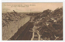 Alley Box Lumber Yard Mill Logging Virginia Rainy Lake Minnesota postcard