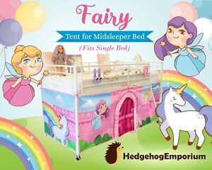Fairy Tent for Midsleeper Cabin Bed, Mid sleeper Unicorn Rainbow Castle 💜