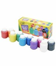Lot Of 2 Crayola Washable Kids Paint 10Ct Crafts Painting Activities Projects