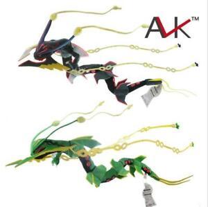 "32"" Rayquaza Evolution Plush Mega Dragon Stuffed Toy Doll Flexible Physica Hot"