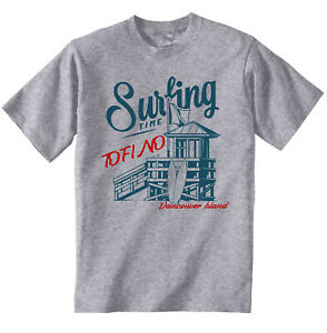 SURFING TOFINO VANCOUVER ISLAND - NEW COTTON T-SHIRT