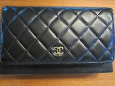 Authentic Chanel Long Wallet Timeless Classics A31509 Black Caviar Skin