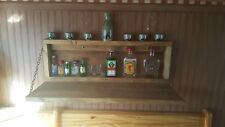 Rustic Minni Murphy Bar Man Cave Liquor Cabinet Game Room  Fold Up Bar Wallmount