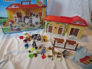 Playmobil 5348 - Mein Pferdestall zum Mitnehmen, Aufklapp-Spiel-Box incl. BA OVP