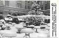 """Chicago IL """"Jacques French Restaurant Outdoor Dining Patio"""" Postcard Illinois"""