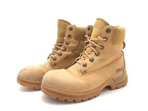 FILA Herren Stiefel Stiefeletten Ankle Boots Komfortschuhe Braun Gr. 41 (UK7)