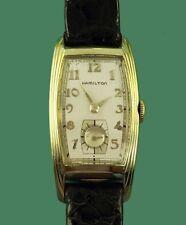 "Vintage 1930's HAMILTON ""Linwood"" Curved Gold Filled Antique Men's Watch"