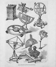ANCIENS INSTRUMENTS de l'OBSERVATOIRE de PARIS - Gravure 19e siècle